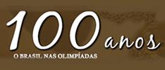 Imagem do logo de 100 anos o Brasil nas Olimpíadas