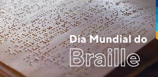 Livro com escrita em braille, sistema de leitura e escrita para cegos